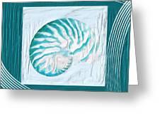 Turquoise Seashells Xxi Greeting Card by Lourry Legarde