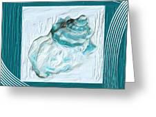 Turquoise Seashells Xxiv Greeting Card
