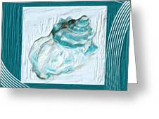 Turquoise Seashells Xxiv Greeting Card
