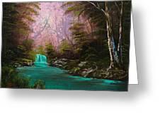 Turquoise Waterfall Greeting Card