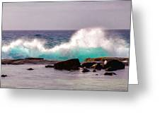 Turquoise Waves Greeting Card