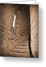 Turret Staircase Greeting Card