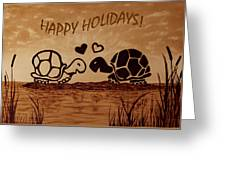 Turtle Greetings Greeting Card