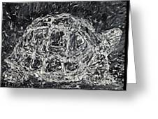 Turtle - Oil Portrait Greeting Card
