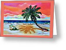 Turtle On Beach Greeting Card
