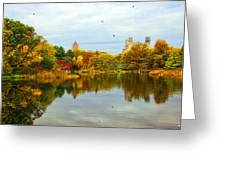 Turtle Pond 2 - Central Park - Nyc Greeting Card