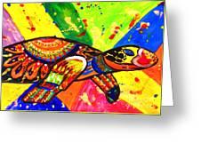 Turtle Pop Art Greeting Card