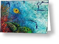 Turtle Wall 1 Greeting Card by Ashley Kujan
