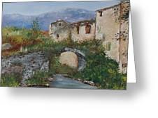 Tuscan Bridge Greeting Card