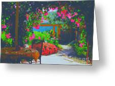 Tuscan Courtyard Greeting Card
