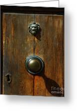 Tuscan Doorknob Greeting Card