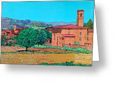 Tuscan Farm Village Greeting Card