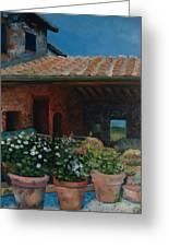Tuscan Flower Pots Greeting Card