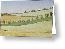 Tuscan Hillside Four Greeting Card