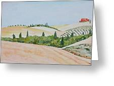 Tuscan Hillside One Greeting Card