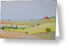Tuscan Hillside Three Greeting Card
