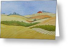 Tuscan Hillside Two Greeting Card by Mary Ellen Mueller Legault
