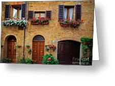 Tuscan Homes Greeting Card