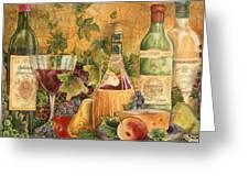 Tuscan In Vino Veritas Greeting Card