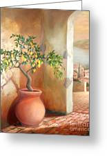 Tuscan Lemon Tree Greeting Card