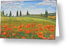 Tuscan Poppies-b Greeting Card