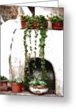 Tuscan Pottery Greeting Card