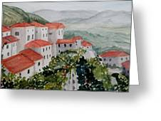 Tuscan Roof  Tops Greeting Card