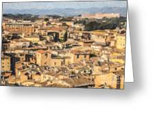 Tuscan Rooftops Siena Greeting Card
