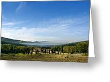 Tuscan Sky Vineyard Greeting Card