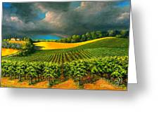 Tuscan Storm Greeting Card by Michael Swanson