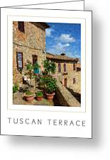 Tuscan Terrace Poster Greeting Card