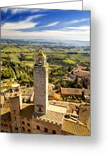 Tuscan Tower Greeting Card