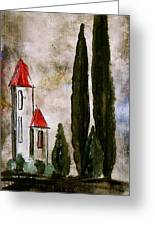 Tuscan Village Landscape Fine Art Print Greeting Card