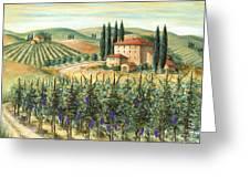 Tuscan Vineyard And Villa Greeting Card