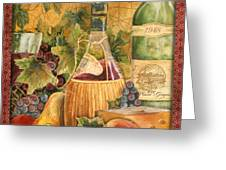 Tuscan Wine-c Greeting Card