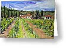 Tuscany Afternoon Greeting Card