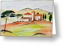 Tuscany-again And Again Greeting Card