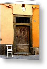 Tuscany Chair With Door Greeting Card