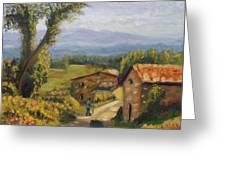 Tuscany Farm Road Greeting Card