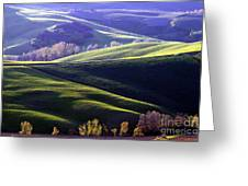 Tuscany Hills Greeting Card by Arie Arik Chen