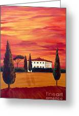 Tuscany In Red Greeting Card