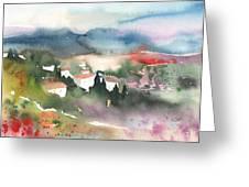 Tuscany Landscape 01 Greeting Card