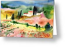 Tuscany Landscape 02 Greeting Card