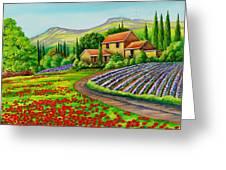 Tuscany Lavender  Greeting Card
