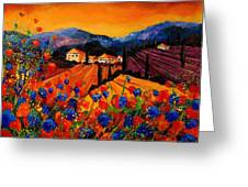 Tuscany Poppies Greeting Card by Pol Ledent