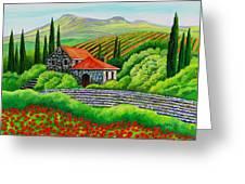Tuscany Poppies Greeting Card