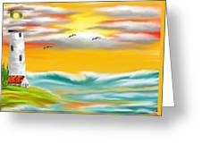Tuscany Sea Greeting Card