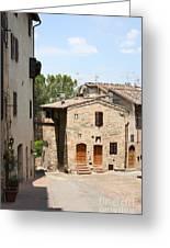 Tuscany Street Greeting Card