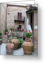 Tuscany Yard Greeting Card