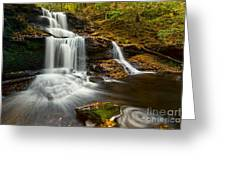 Tuscarora Falls In Fall Greeting Card